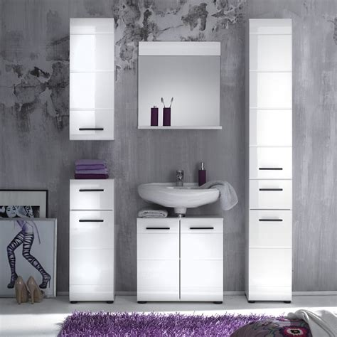 High Gloss Bathroom Furniture Zenith Bathroom Furniture Set 1 In White With High Gloss
