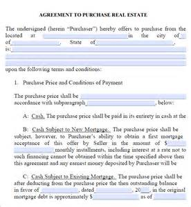 Purchase Agreement Template Real Estate by Real Estate Purchase Agreement 7 Free Pdf