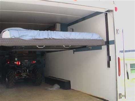 rv bed lift system toy hauler remodel vertical bed lift polaris rzr forum