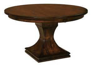 Pedestal Dining Table Amish Westin Single Pedestal Dining Table