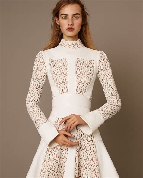 Roberta Roller Rabbit alexander mcqueen paneled lace flared dress in white lyst
