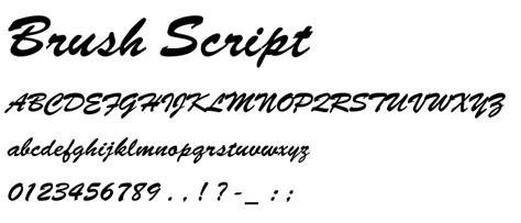 Brush Script brush script schriftart script brush kategorie
