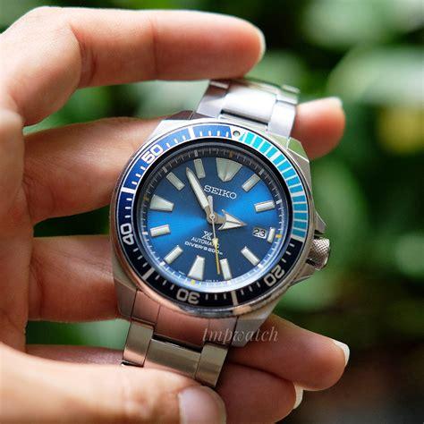 Jam Tangan Pria Seiko Prospex Srpb49k1 Samurai Blue Divers A seiko samurai blue lagoon srpb09 seiko prospex like new