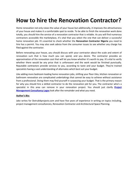 ppt how to hire the renovation contractor powerpoint