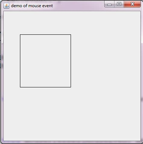 java swing rectangle java programs draw rectangle in java frame using mouse even