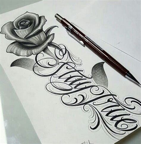 gangster rose tattoo chicano lettering lettering this so