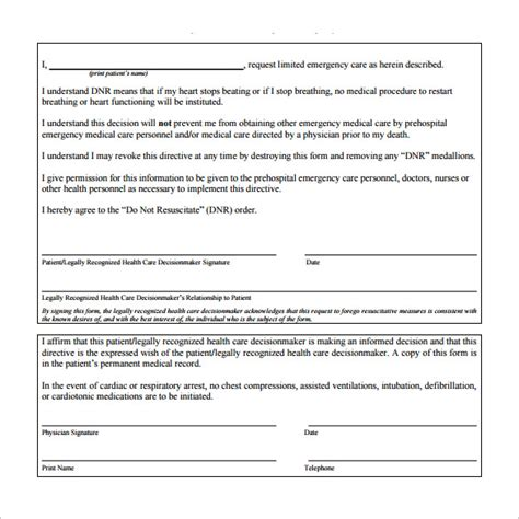 do not resuscitate forms 5 download free documents in