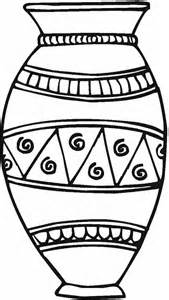 coloring page vase collections