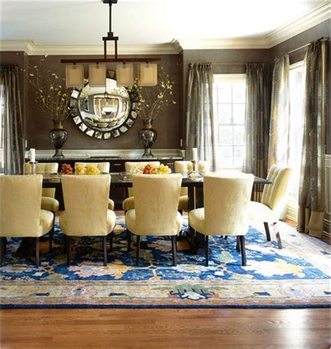 Transitional Dining Room Rugs Transitional Dining Room By Diane Paparo