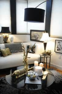 Black White Home Decor Black White Gold Glam Living Room Just Decorate