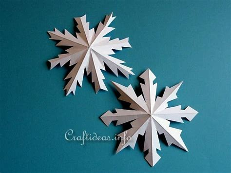 Snowflakes Paper Craft - craftideas link crafts eight pointed metallic