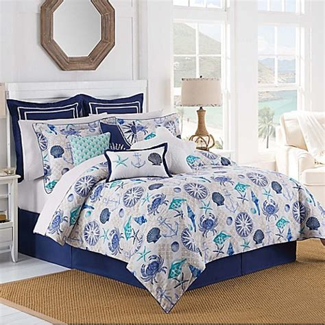 bed bath and beyond williamsburg williamsburg barnegat coastal comforter set in blue bed