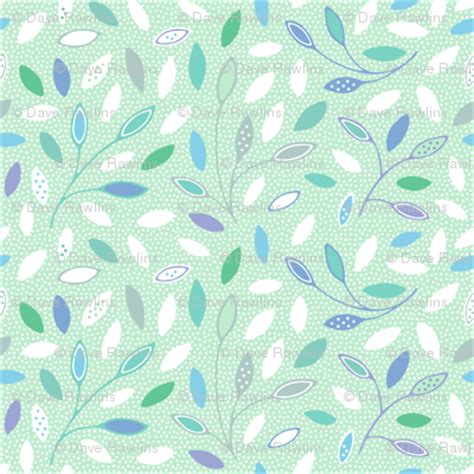 Dotted Leafs 1 dotted leaves and branches fabric nossisel spoonflower