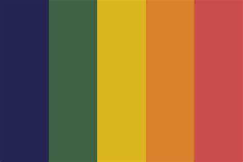 rainbow color palette muted rainbow color palette