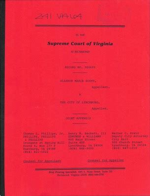 Lynchburg Court Records Virginia Supreme Court Records Volume 241 Virginia Supreme Court Records