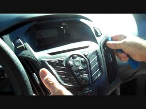 how to ford focus car stereo removal 2012 2015 replace
