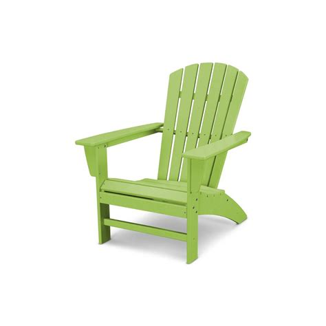 plastic outdoor chair polywood traditional curveback lime plastic outdoor patio