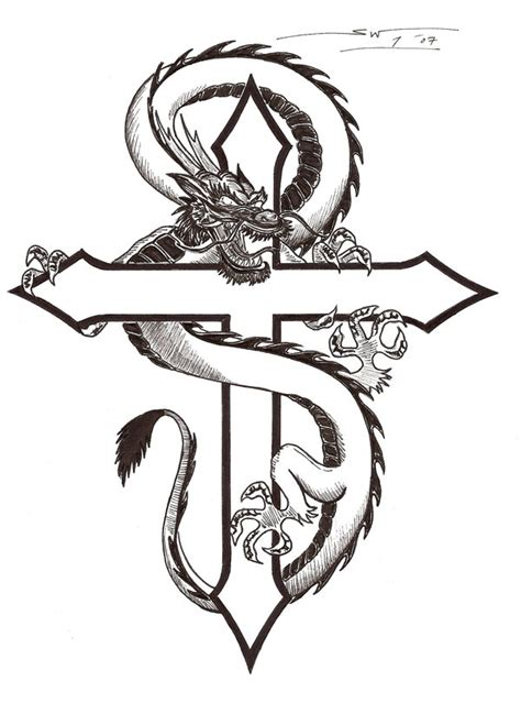 dragon and cross tattoo 55 cross tattoos designs and pictures