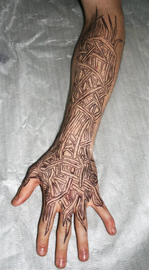 tribal lower arm tattoos lower arm tribal by blade m on deviantart