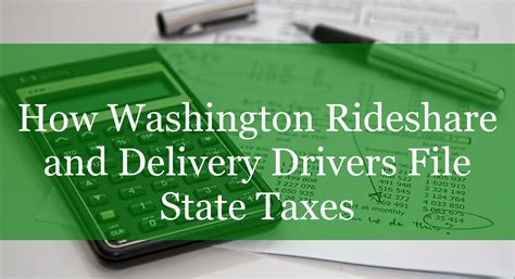 Postmates Background Check Requirements How Washington Rideshare And Delivery Drivers File State Taxes Rideshare Dashboard