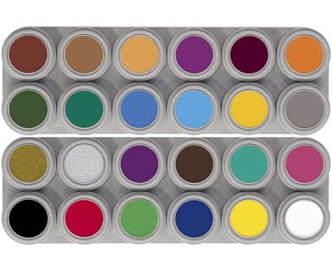 grimas paint 24 colour water make up palettes quot a b quot ebay
