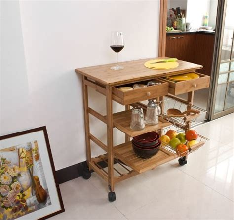 haotian fkw06 n kitchen storage cart with shelves
