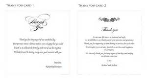 wedding thank you card wording lilbibby