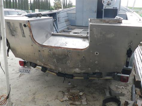 how to strengthen transom on aluminum boat valco bayrunner transom rebuild
