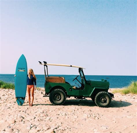 jeep with surfboard cj 3b used in this surfing ad jeep cj3b