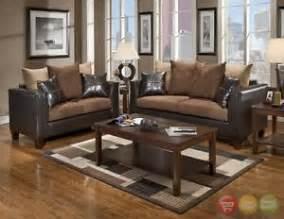 Chocolate Brown Living Room Furniture Casual Contemporary Chocolate Brown Sofa Seat Living Room Furniture Set Ebay