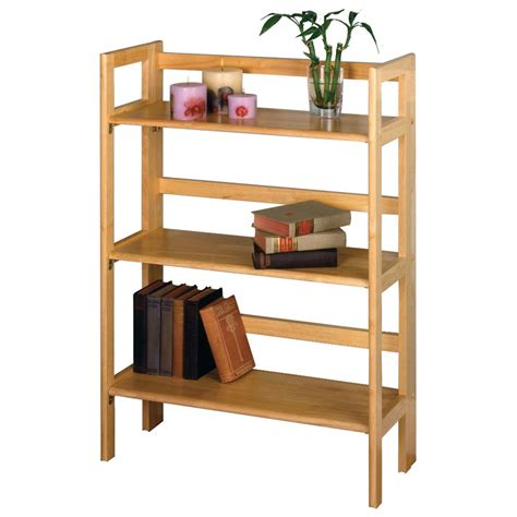 winsome 3 tier folding stackable shelf 151032