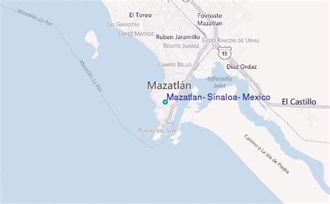 map of mexico sinaloa mazatlan sinaloa mexico map