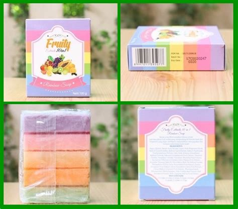 Sabun Pelangi sabun fruity soap 10 in 1 rainbow soap bpom