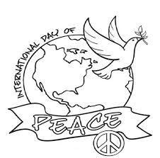 world peace day coloring pages sketch coloring page