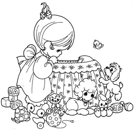 baby nurse coloring pages mother nursing a baby in crib coloring page precious