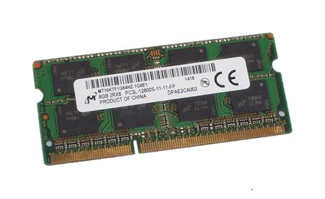 Ram Laptop Ddr3 Low Voltage mt16ktf1g64hz 1g6e1 micron 8gb pc3l 12800 204 pin low