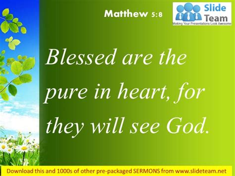 matthew 5 8 blessed are the pure in heart power point