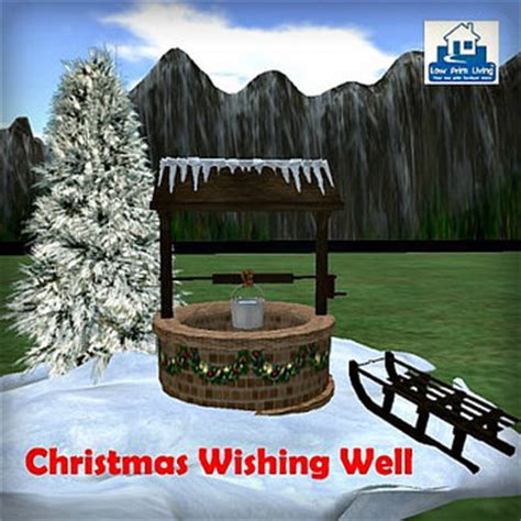 second life marketplace christmas wishing well set tip