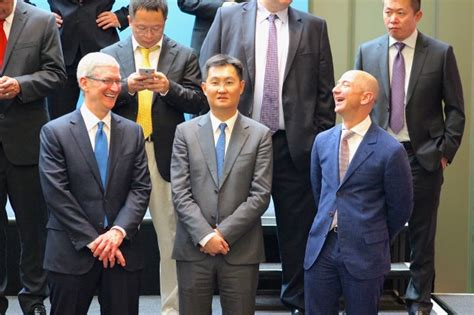 jack ma vs jeff bezos a tale of two very different photos tim cook satya nadella jeff bezos and mark