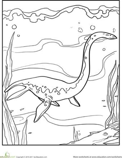 underwater dinosaurs coloring pages color the dinosaur elasmosaurus colors dinosaurs and