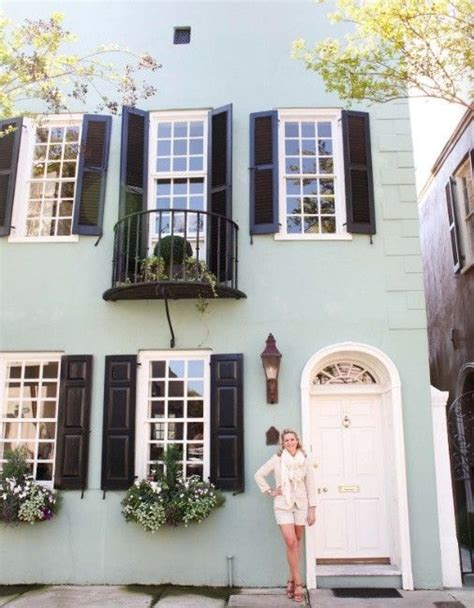 mint green house mint green exterior and black shutters house colors