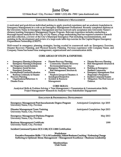 emergency management resume the best letter sle
