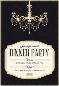 8 impressive dinner party invitation template free
