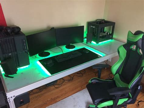 best lighting for computer workstation 1011 best images about gaming setup on pinterest gaming