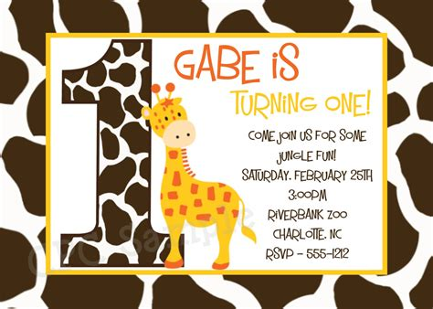 printable birthday cards giraffe giraffe birthday invitation giraffe birthday party invitations