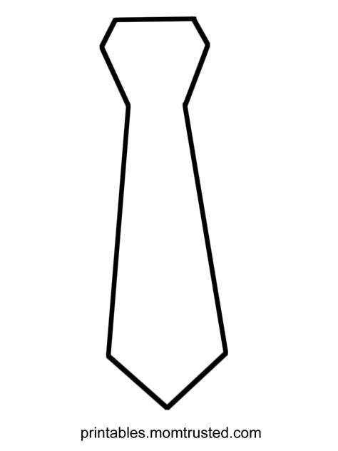 tie template fathers day tie coloring pages free large images