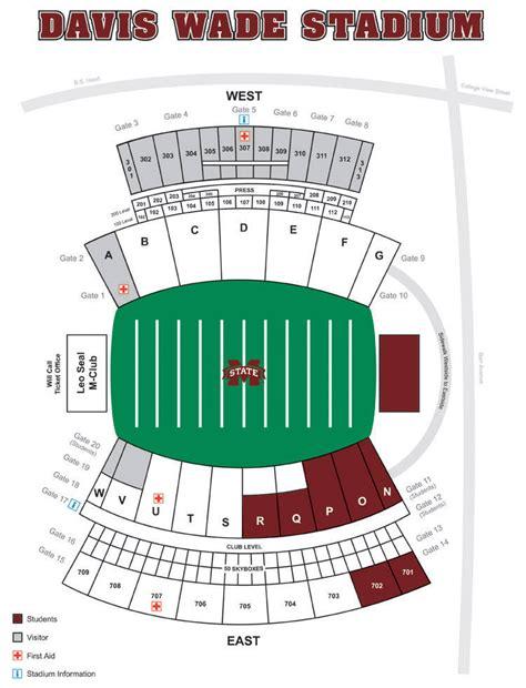 davis wade stadium seating chart davis wade stadium at field mississippi state