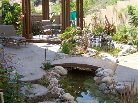 backyard bridges design asian inspired landscape design diy