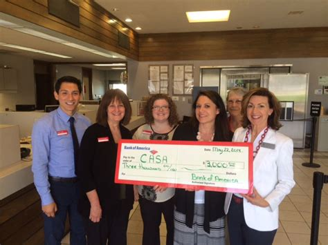 casa in banking bank of america presents a 3 000 grant to casa of