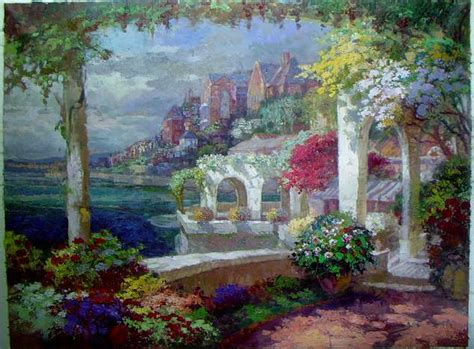 Garden Of Oils by Painting Reproductions Garden Paintings Garden Painting Painting